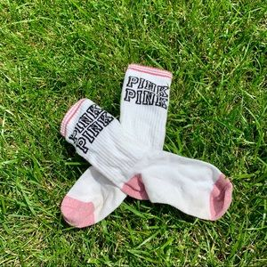 Victoria's Secret Pink Crew Socks